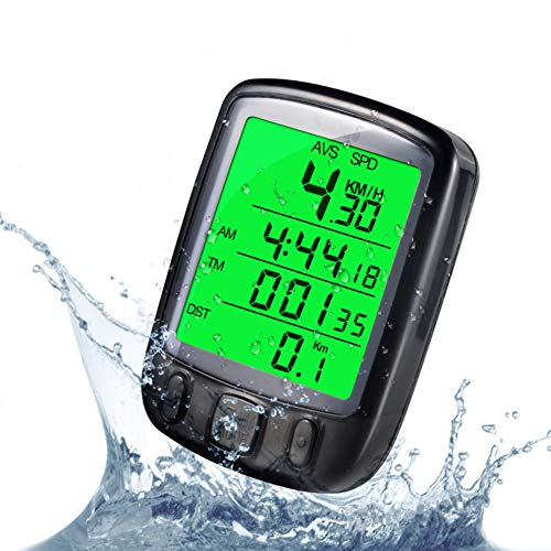 LYA Fahrrad-Computer, Wasserdichtes Fahrrad-Entfernungsmesser Mit LCD-Hintergrundbeleuchtung Display-Radfahren Speedometer Geeignet Für Tracking-Fahrgeschwindigkeit Und Entfernung