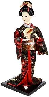 Asiatische Puppe, Dekoration – Geisha Kimono, Schwarz und