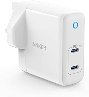 Anker 60W 2-Port USB C Charger, PowerPort Atom PD 2 [GAN Tech] Compact Wall Charger, Power Delivery for MacBook Pro/Air, iPad Pro, iPhone 11 / Pro/Max/XR/XS/X, Pixel, Galaxy, and More