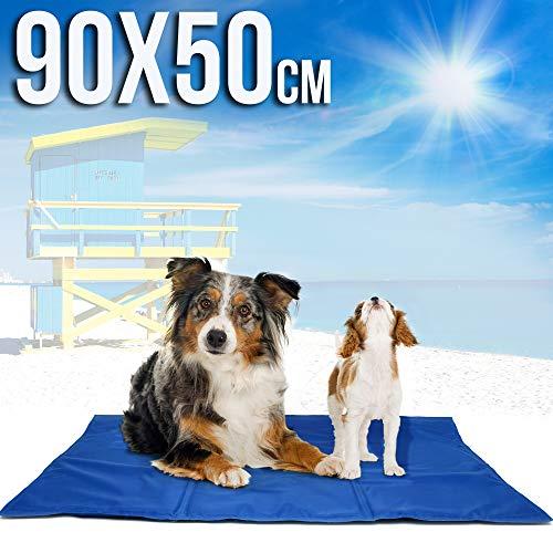 Cama refrescante para perro, ideal en verano. Alfombra refrigerante para mascotas, muy fresca y resistente. Colchoneta fría para perros y gatos. Colchón de refrigeración para animales, 90x50cm