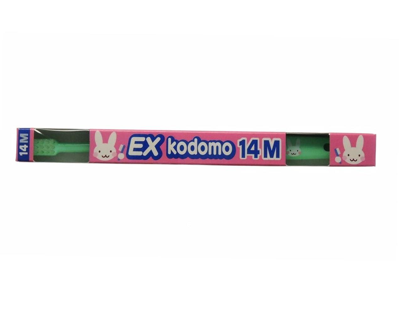 居眠りするダーベビルのテス魔女ライオン コドモ DENT.EX kodomo 1本 14M グリーン (仕上げ磨き用?0?6歳)