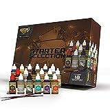 Wargames Delivered Starter Set De Pintura Para Miniaturas Y Maquetas - Pinturas Para Miniaturas De Plástico - 18 Pinturas Para Miniaturas, Frascos Para Mezclar, Pelotas Para Mezclar Y Pinceles