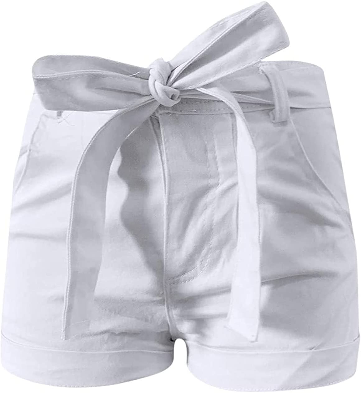 Women's Casual Short New Shipping Free Jeans with Belt Summer S Gifts Waist High Bowknot