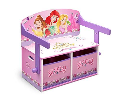 Delta Children Princess 3 En 1 - Banco de almacenamiento y escritorio,...