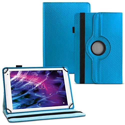 UC-Express Tablet Hülle für Medion Lifetab E6912 Tasche Schutzhülle Cover 360° Drehbar Case, Farben:Blau