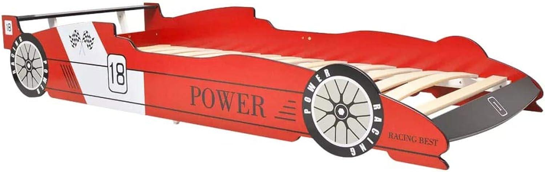 Xinglieu Kinderbett für Rennwagen, 90 x 200 cm, Rot
