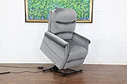 Divano Roma Furniture Classic Plush Power Lift Recliner Living Room- best living room chair for lower back pain