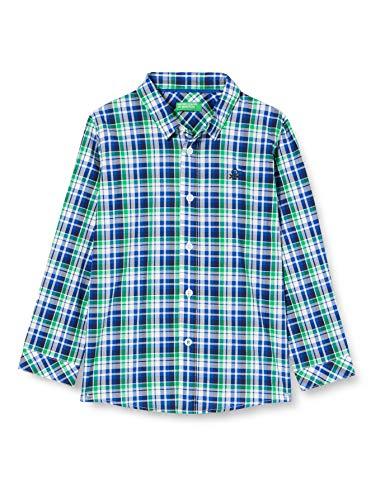 United Colors of Benetton Jungen Camicia Hemd, Blu 92f, 104