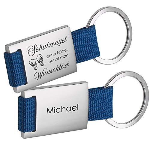 Geschenke 24 Schlüsselanhänger Schutzengel ohne Flügel nennt Man Pfleger (blau, mit Wunschname): mit Spruch und Name personalisiert - persönliche Geschenkidee für Krankenpfleger/Altenpfleger