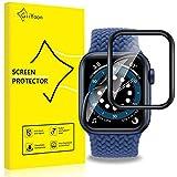 GiiYoon 4 Pezzi Pellicola per Apple Watch Series 5/4/6/SE 44mm Protettiva, [TPU-Morbido Pellicola] [ Non Vetro Temperato ] Schermo Protettivo per Apple Watch 44mm Series 5/4/6/SE
