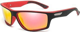 SGJFZD Men's Outdoor Sports PC Frame UV400 Polarized Sunglasses Riding Driving Ultra Light Men's Mirrors Eyeglasses Fashionable Sunglasses (Color : Orange)