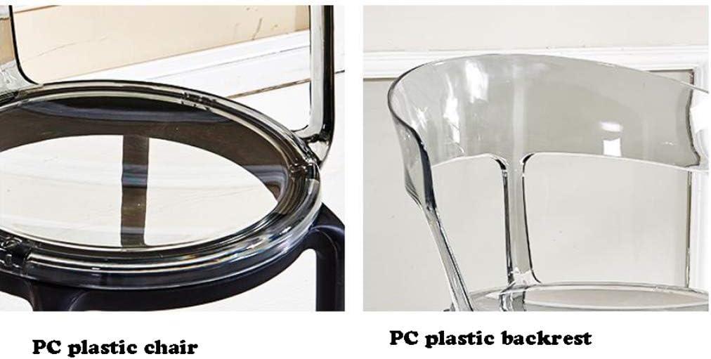 GYJ Simple Chaise Bureau étudiant et Chaise de Maquillage Tabouret Retour à la Maison à Manger Chaise d'ordinateur Unique (Color : Gray) Transparent