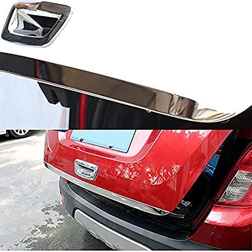 Auto Heckklappen Zierleiste Styling Leisten für Opel/Vauxhall Mokka X 2013-2018,Edelstahl Chrom Kofferraum Lippe Blende Licht Streifen Aufkleber Formteil Dekoration ZubehöR