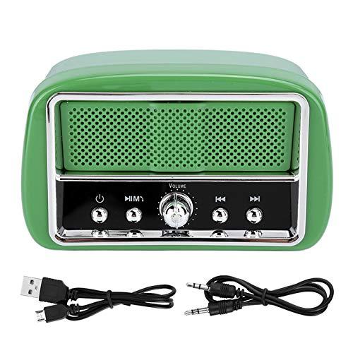 Weikeya Altavoz vintage, 60HZ-120khz Abs 4 Ω/3 W para Bluetooth/USB/Tarjeta Trans-Flash/Salida de Audio Aux
