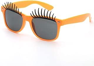 Fashion Beach Driving Vacation Fishing Party Big Eyes Eyelashes Fanci-Frame Adult Kids Sunglasses Retro (Color : Orange)