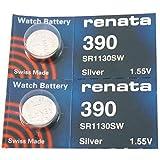 Renata Watch Batteries 390 (2pcs)