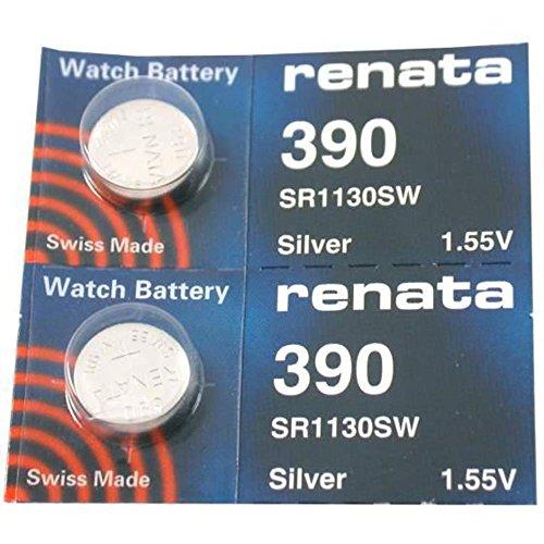 Renata 390 Uhrenbatterien (2 Stücke)