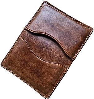DELUXE- Portacarte di Credito in Pelle Color Marrone, pelle naturale conciata al vegetale, Regali Handmade, Artigianale, F...