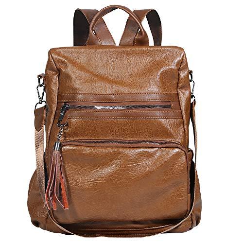 Damen-Rucksack, Geldbörse, wasserdicht, PU-Leder, Nylon, Anti-Diebstahl, leicht, modisch, Schultertasche, Reisetasche