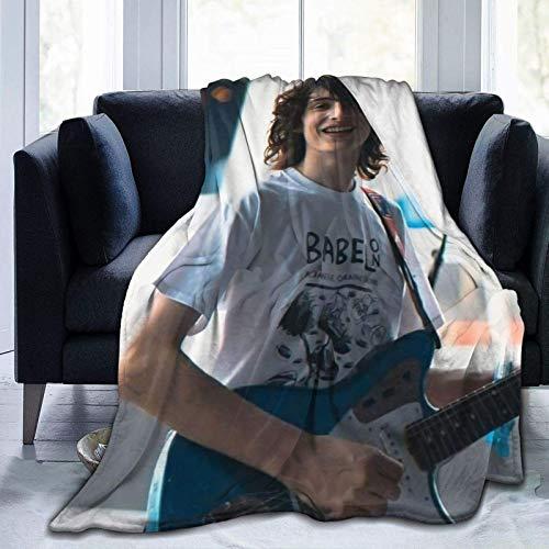 Jupsero Finn Wolfhard - Manta de Franela súper Suave para Aire Acondicionado, Manta de Aire Acondicionado, Manta de enfriamiento, Mantas de Toalla para Ropa de Cama del hogar, sofá, decoraci