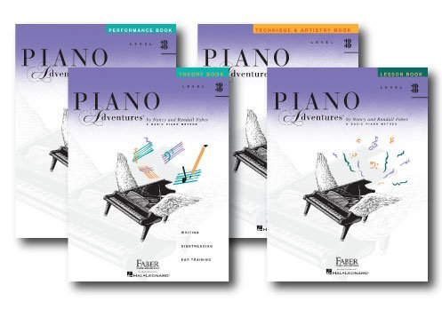 Faber Piano Adventures Level 3B Learning Library Pack Four Book Set - Lesson, Theory, Performance, and Technique & Artistry Books