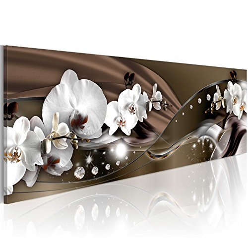 murando - Acrylglasbild Blumen 120x40 cm - Glasbilder - Wandbilder XXL - Wandbild - Bilder -Orchidee Diamant b-A-0072-k-c