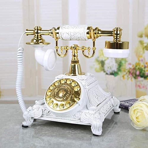 LXYZ Teléfono de la Vendimia Resina giratoria Teléfono Fijo de la Vendimia Dial Giratorio Teléfono Antiguo Teléfono Fijo Oficina Hotel Familiar por teléfono de Estilo Retro