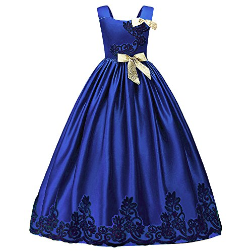 Mädchen Kleider Prinzessin Hochzeit Abendkleid Lange Röcke Palace-Stil Kleid