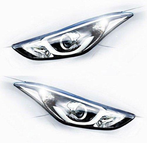 Hyundai Motors verdadera frontal derecho Izquierda Head luces LED Lamp Assembly 2-PC Set para…