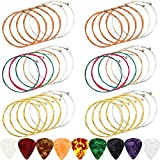 6 Sets Acoustic Guitar Strings Replacement Steel Guitar Strings Gold/Brass/Multicolor Guitar String
