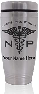 Commuter Travel Mug, NP Nurse Practitioner, Personalized Engraving Included
