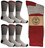 Yacht & Smith Man's Thermal Boot Crew And Tube Socks, Bulk Cold Resistant Weather Socks