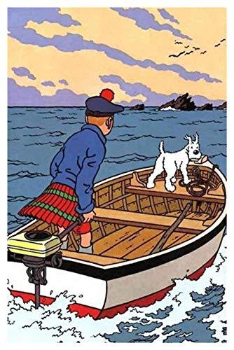 ZGPTOP Puzzle Tintin Adventure Grande Puzzle Game Opere per Adulti Teens Jigsaws in Legno Puzzle 300/500/1000/1500 Pezzi, 2 Stili (Color : A, Size : 1000P)