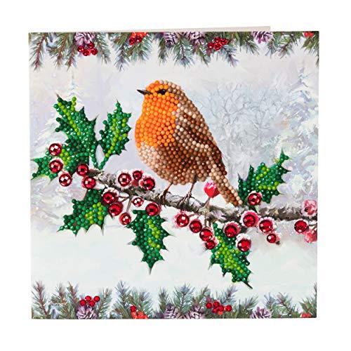 CRYSTAL ART CCK-XM27 Weihnachten Robin, Multicolor