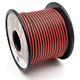 Cable Alambres eléctrico de 0.35mm²22awg, extensión de 2 núcleos de 2x30 metros, voltaje de 12 V a 300 V, cable de cobre estañado de múltiples hilos se puede utilizar para tira de luz LED, lámpara LED