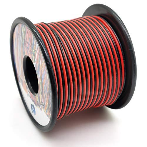 0.35mm² 22AWG 2 Pin Elektrischer Draht Kabel 60 Metern Betriebspannung von DC 12V bis 300V die verzinnter kupferlitzen Drähte kann LED Streifen oder LED-Lampe