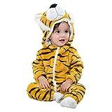 Chic-Chic Pyjama Ensemble de Pyjama Dors Bien Enfant Bébé Combinaison Hiver Forme Animal Déguisement Manteau Chaud Tigre 12-24mois