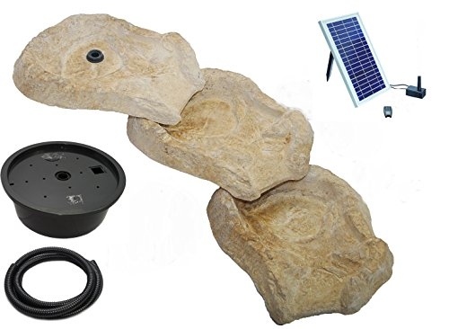 wasserkaskaden Komplettanlage Eder mit Solar Pumpe, mehrfarbig