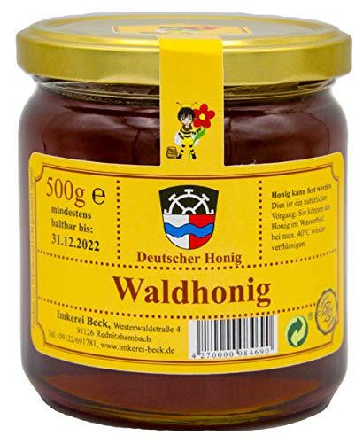 Echter Deutscher Imkerhonig - Honig vom Imker aus Bayern (500g Waldhonig)
