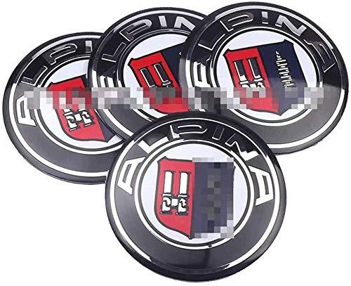 4 Piezas Tapas centrales Plastico Aleación Logo Insignia Coche, para ALPINA Tapacubos Pegatinas