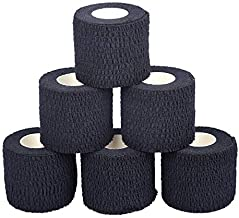 Oly Grip: Weightlifting Thumb Hook Grip Cotton Tear Stretch Tape (6 Rolls) Black - Weight Lifting - Crossfit - Gymnastics - Keep Fingers and Hands Safe During Workout