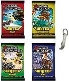 Juego de 4 ampliaciones de Star Realms United VF: Assaut, mando + misiones + héroes + 1 Yoyo Blumie.