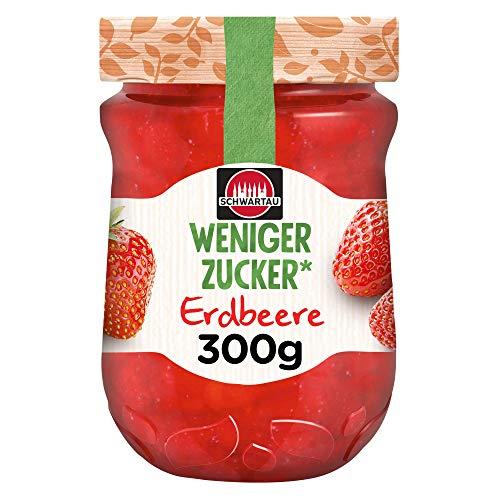 Schwartau Weniger Zucker Erdbeere, Fruchtaufstrich, 300 g