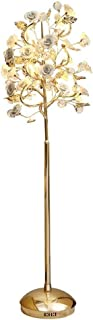 WHQ Lampadaire for Salon Moderne Céramique Chambre Restaurant Cristal Verticale Simple Lampe de Chevet Moderne Fleur Lampa...