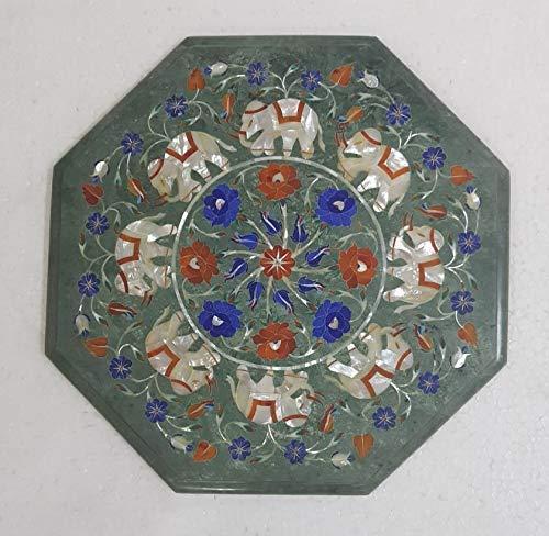 Green Marble Octagon Coffee Table Ballard Top Design Dura Pietra Award-winning store High material