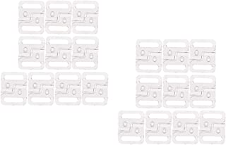 IPOTCH Set of 20 Clear Plastic Tape Closure Closure Waist Extender Hooks & Eyes Clasps Sewing Garment Clasps Hooks for Bra...
