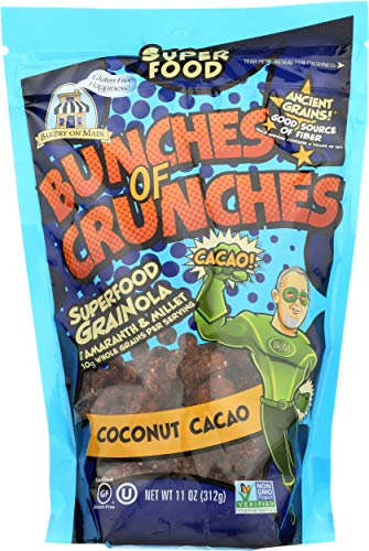 Bakery on Main Gluten Free Bunches of Crunches Granola, Coconut Cacao, 11 Ounce