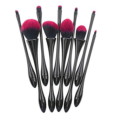 10 stuks Make-up kwastenset kunststof handvat beker Beauty Brush Blush Foundation oogschaduw borstel en andere schoonheidshulpmiddelen