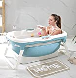 TTPF Adulto bañera Plegable, portátil Bañera, Bañera de hidromasaje Hogar de plástico bañera Antideslizante con Aislamiento de bañera,A
