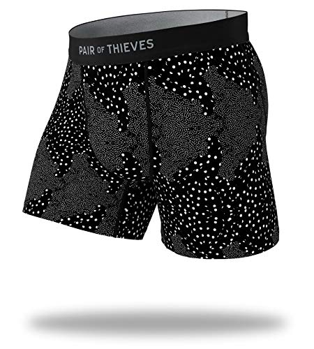 Pair of Thieves Men's Cool Breeze Boxer Briefs, Black, Medium